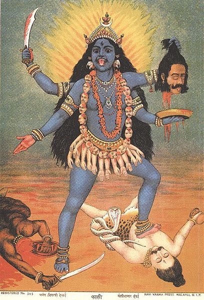 Kali and Shiva